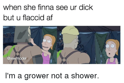 Shower compare dick