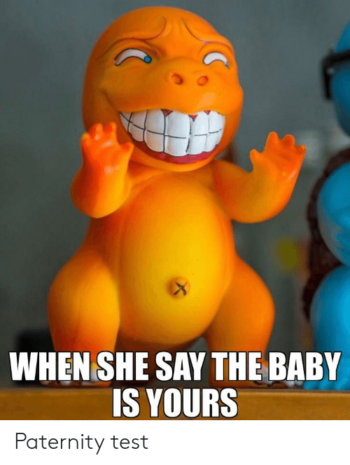 Reddit, Test, and Baby: WHEN SHE SAY THE BABY  IS YOURS Paternity test