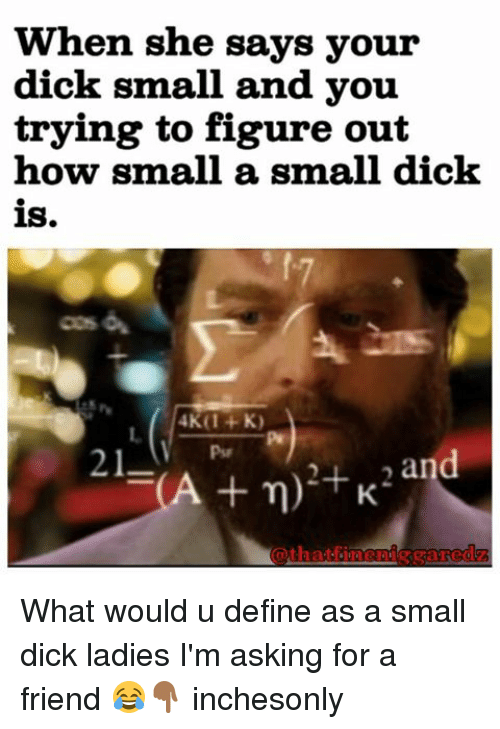 How do you know if your dick is small