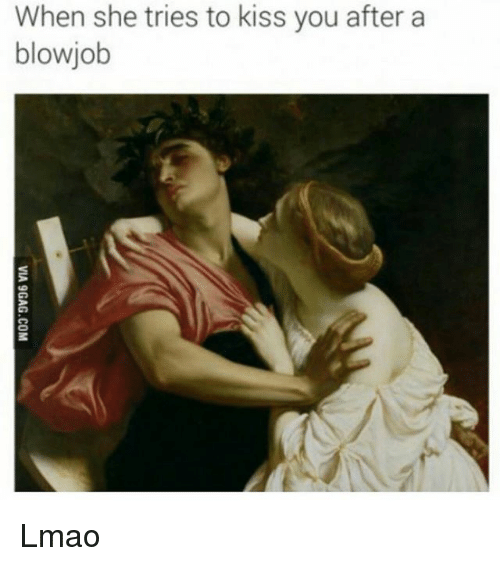 After a blowjob