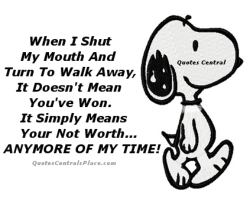 When Shut My Mouth And Turn To Walk Away It Doesnt Mean Youve Won