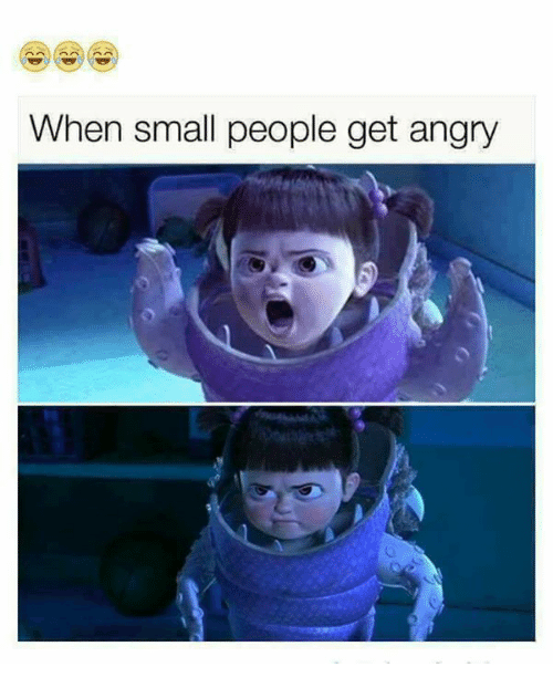 Funny, Angry, and Get: When small people get angry