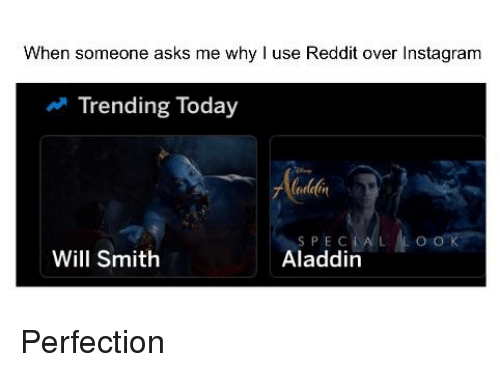 When Someone Asks Me Why L Use Reddit Over Instagram Trending Today