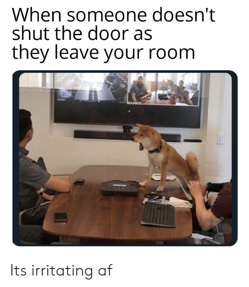Af, They, and Door: When someone doesn't  shut the door as  they leave your room Its irritating af
