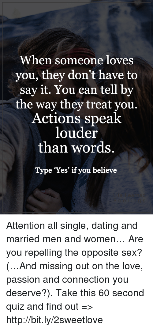 dating actions vs words