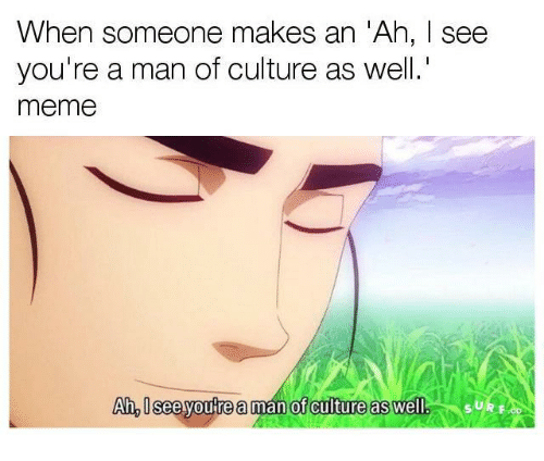 I See Youre A Man Of Culture