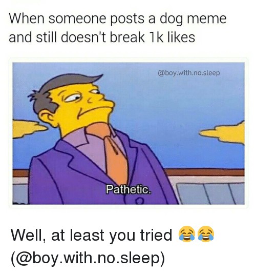 When Someone Posts A Dog Meme And Still Doesnt Break Likes With No
