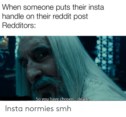 When Someone Puts Their Insta Handle on Their Reddit Post Redditors