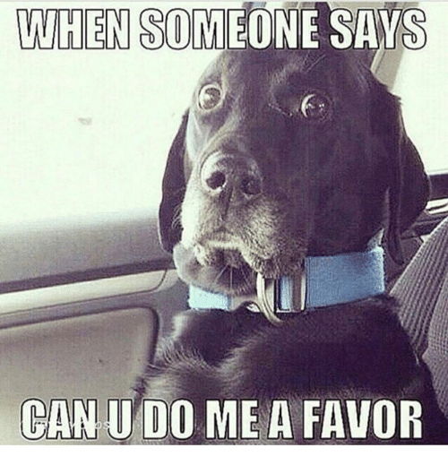 if someone did you a favor Asking for a favor refers to asking someone to do something for you use these  phrases to politely ask for a favor when someone asks you for.