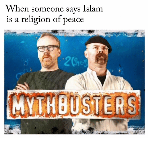 Islam, MythBusters, and Peace: When someone says Islam  is a religion of peace  2Sio  MYTHBUSTERS