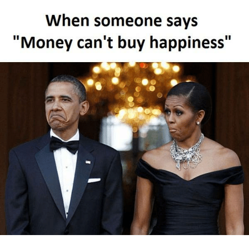 money cant buy happiness We know it can't buy love, but can money buy happiness find out.