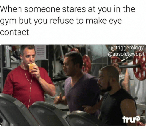 when someone stares at you