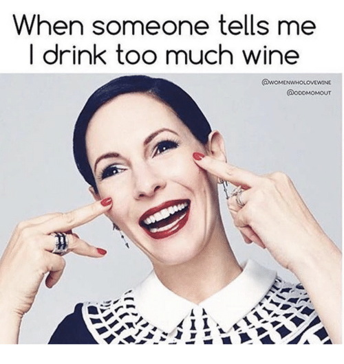 When Someone Tells Me Drink Too Much Wine Too Much Meme On Meme