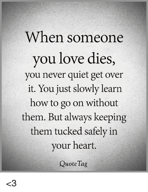 Love, Memes, And Heart: When Someone You Love Dies, You Never Quiet