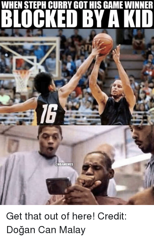 when steph curry gothis game winner blocked by akid unbamemes 3670166 ✅ 25 best memes about do�an do�an memes,Get Blocked Meme