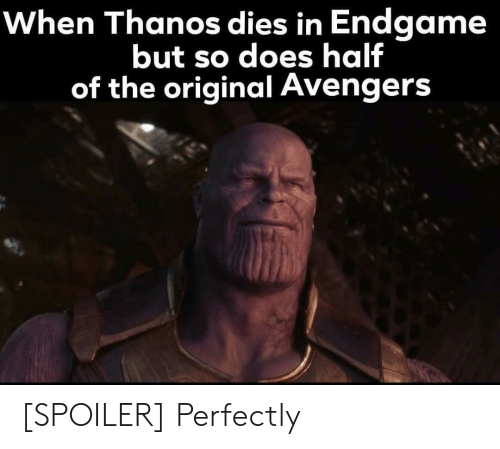 When Thanos Dies in Endgame but So Does Half of the Original