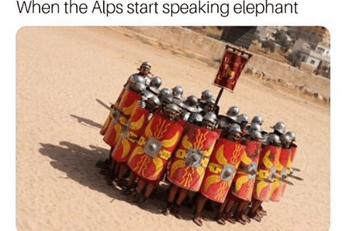 Elephant, Alps, and When: When the Alps start speaking elephant