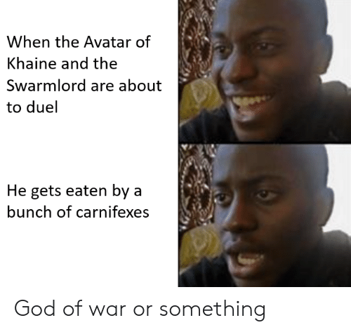 When the Avatar of Khaine and the Swarmlord Are About to