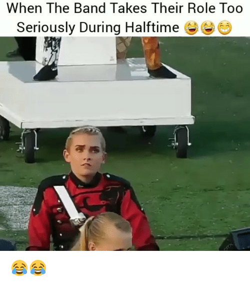 Funny, Band, and The Band: When The Band Takes Their Role Too  Seriously During Halftime e 😂😂