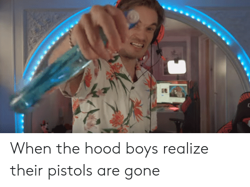 The Hood, Hood, and Boys: When the hood boys realize their pistols are gone