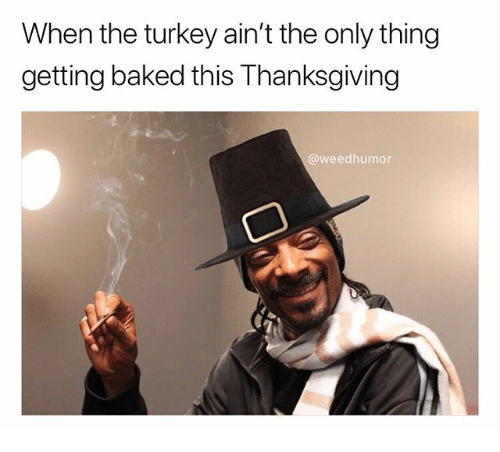Baked, Thanksgiving, and Weed: When the turkey ain't the only thing  getting baked this Thanksgiving  @weedhumor