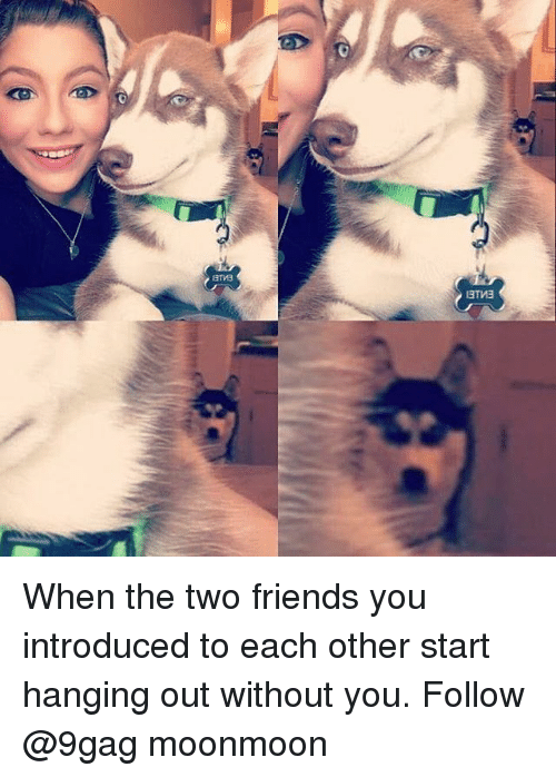 9gag, Friends, and Memes: When the two friends you introduced to each other start hanging out without you. Follow @9gag moonmoon
