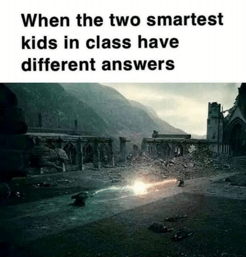 Memes, Kids, and 🤖: When the two smartest  kids in class have  different answers