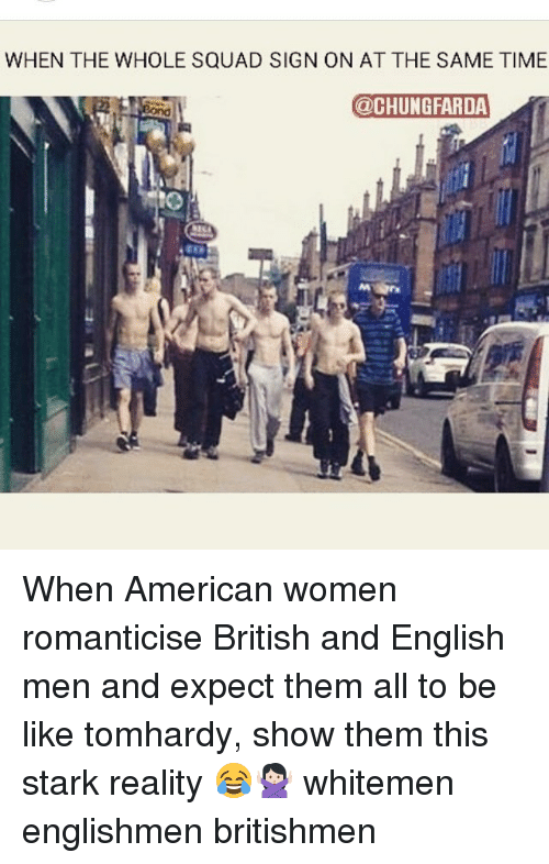 American women english men
