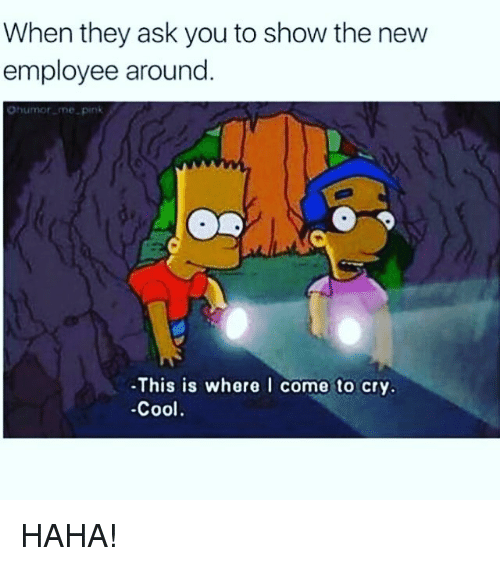 When They Ask You To Show The New Employee Around Ohumor
