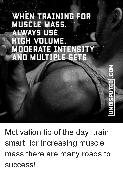 WHEN TRAINING FOR MUSCLE MASS ALWAYS USE HIGH VOLUME