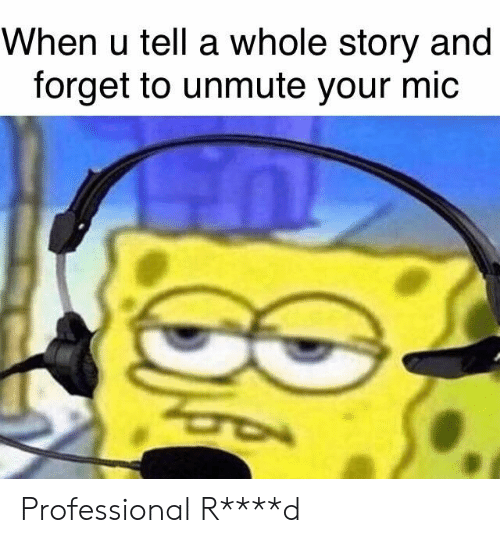 When U Tell A Whole Story And Forget To Unmute Your Mic