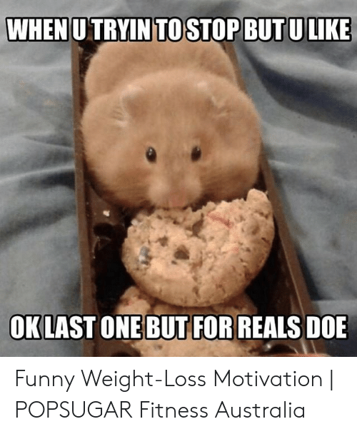When U Tryin To Stop But Ulike Oklast One But For Reals Doe Funny Weight Loss Motivation Popsugar Fitness Australia Doe Meme On Me Me