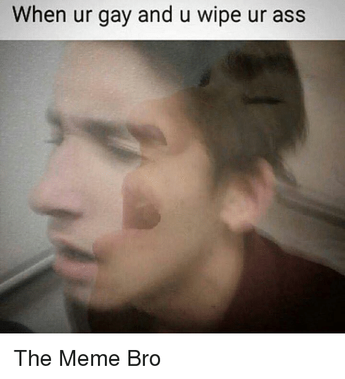 Meme, Memes, and Dank Memes: When ur gay and u wipe ur as  s The Meme Bro