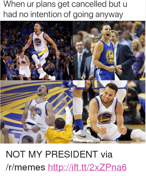 """Memes, Http, and President: When ur plans get cancelled but u  had no intention of going anyway  30  30 <p>NOT MY PRESIDENT via /r/memes <a href=""""http://ift.tt/2xZPna6"""">http://ift.tt/2xZPna6</a></p>"""