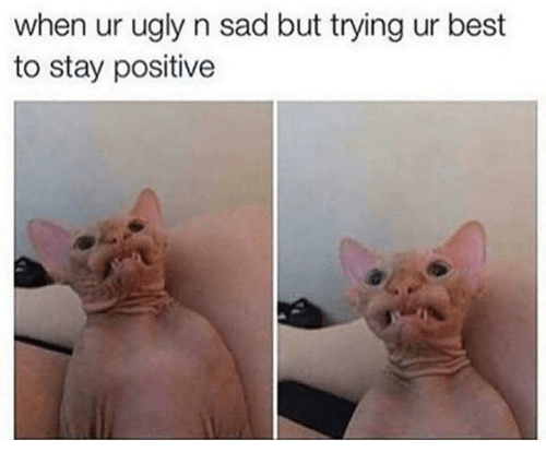 Ugly, Best, and Sad: when ur ugly n sad but trying ur best  to stay positive