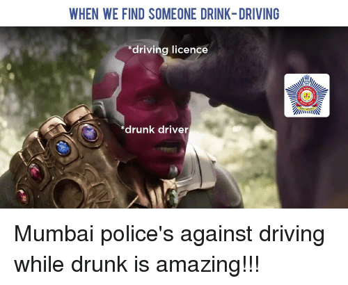 Driving, Drunk, and Reddit: WHEN WE FIND SOMEONE DRINK-DRIVING  driving  licence  *drunk driver