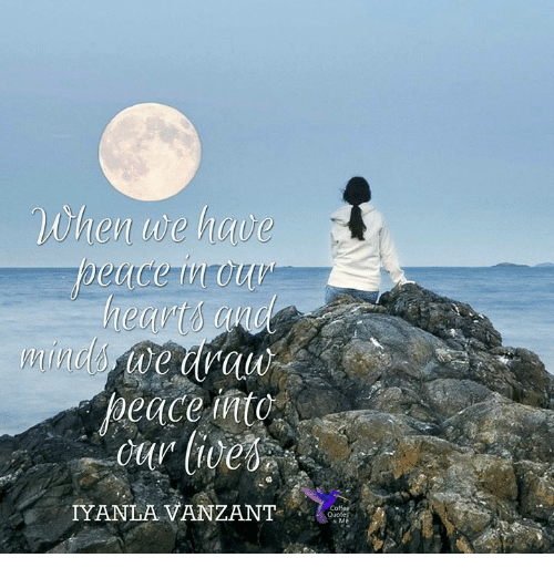 Memes, Peace, and 🤖: When we have  peace t  IYANLA VANZANT  & M