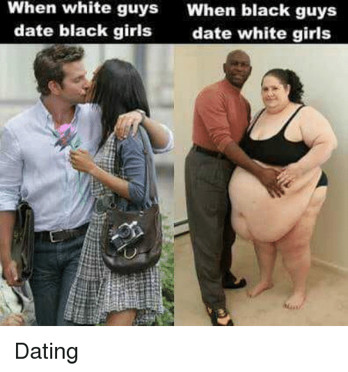 white girl dating a black guy