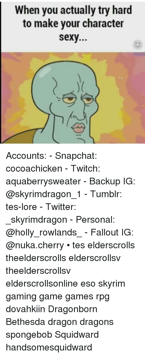 Sexy twitter accounts