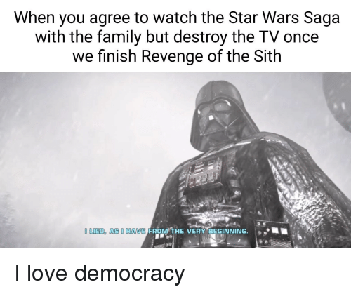 When You Agree to Watch the Star Wars Saga With the Family