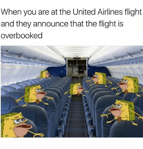When You Are at the United Airlines Flight and They Announce