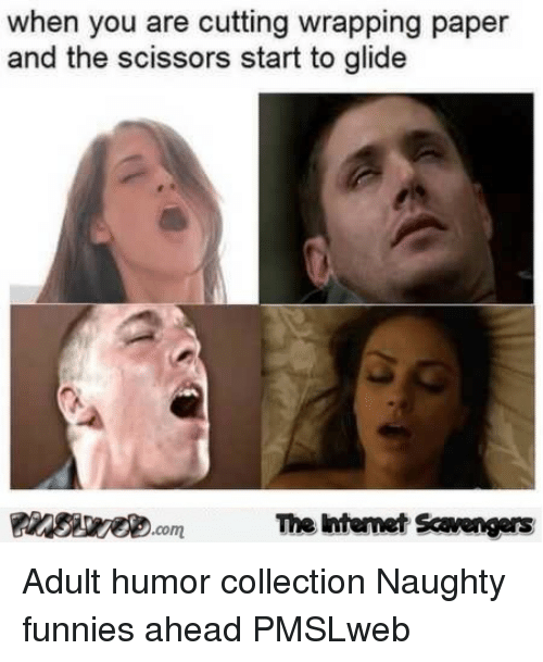 Naughty, Adult Humor, and Paper: when you are cutting wrapping paper  and the scissors start to glide  The intemet Scavengers <p>Adult humor collection  Naughty funnies ahead  PMSLweb </p>