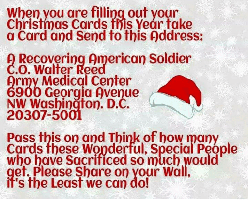 memes soldiers and avenue when you are filling out your christmas cards fris - Christmas Cards For Veterans