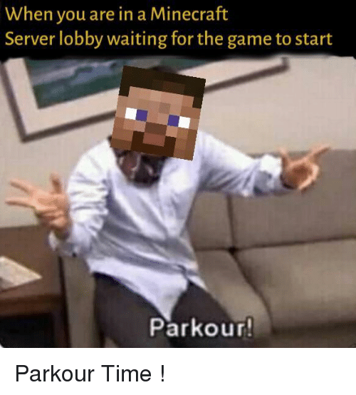 When You Are in a Minecraft Server Lobby Waiting for the Game to