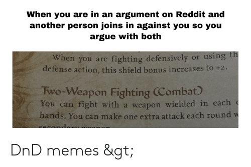 When You Are in an Argument on Reddit and Another Person Joins in