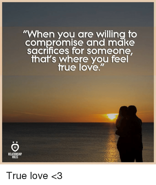 Love is compromise