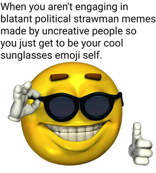 When You Aren't Engaging In Blatant Political Strawman