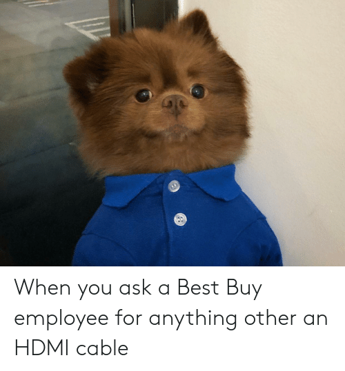 Best Buy, Best, and Ask: When you ask a Best Buy employee for anything other an HDMI cable