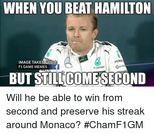 WHEN YOU BEAT HAMILTON IMAGE TAKEN FROM F1 GAME MEMES BUT ...