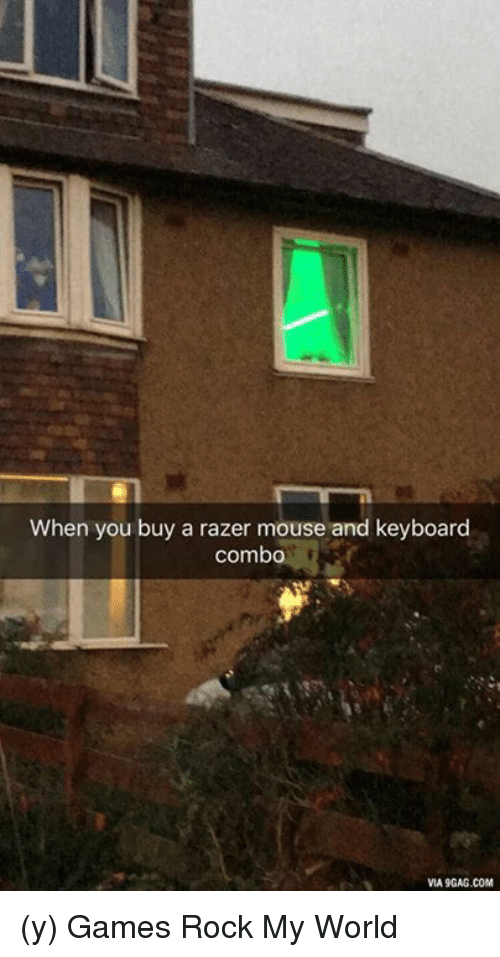 When You Buy A Razer Mouse And Keyboard Combo VIA9GAGCOM Y